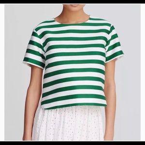 Kate Spade high/low striped Ramona top